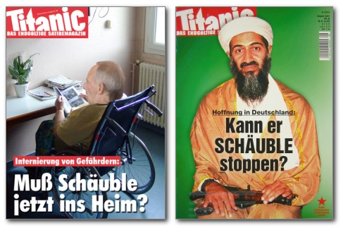 Schauble go home - titanic